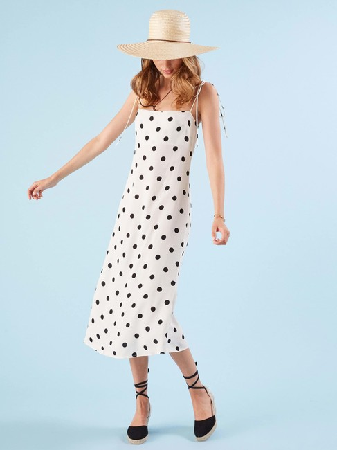 White Dot Maxi Dress by Reformation Dots