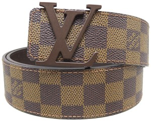 Louis Vuitton Louis Vuitton Damier Ebene Initiales 90/36 Belt