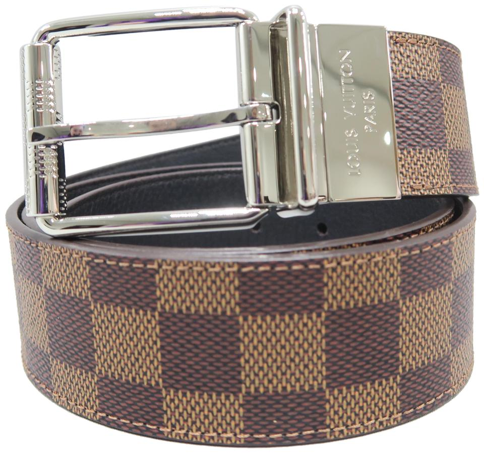 d8728574641c Louis Vuitton Brown Damier Print 90 36 Belt - Tradesy