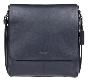 Coach Leather F28576 Midnight Navy Messenger Bag