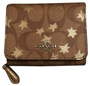 Coach 38642 Small Trifold Wallet in Signature Canvas with Pop Star Print