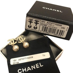 Chanel Chanel CC faux pearl earrings