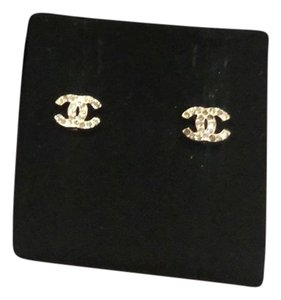 Chanel Chanel CC crystal stud earrings