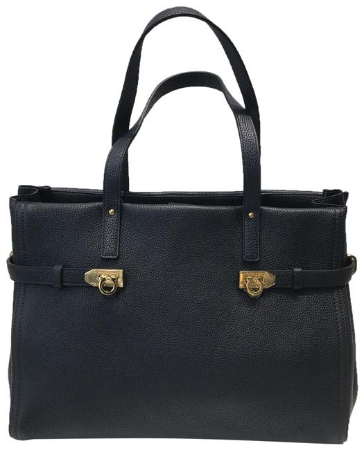 Item - Navy Blue Leather Tote