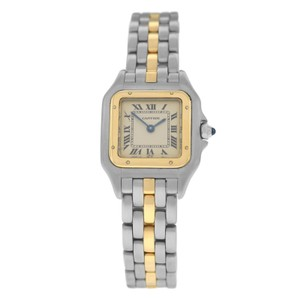 Cartier Authentic Ladies Cartier Panthere 112000R 18K Gold Steel One Row 22MM