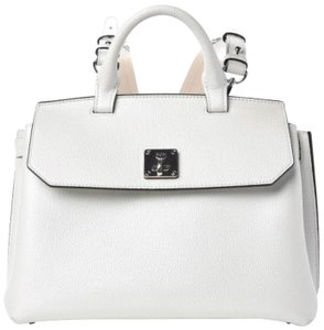 MCM Tote in white flake
