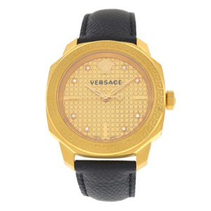 c69e525c72f4 Versace Authentic New Versace Dylos VQD03 0015 Gold IP Quartz 35MM Diamond