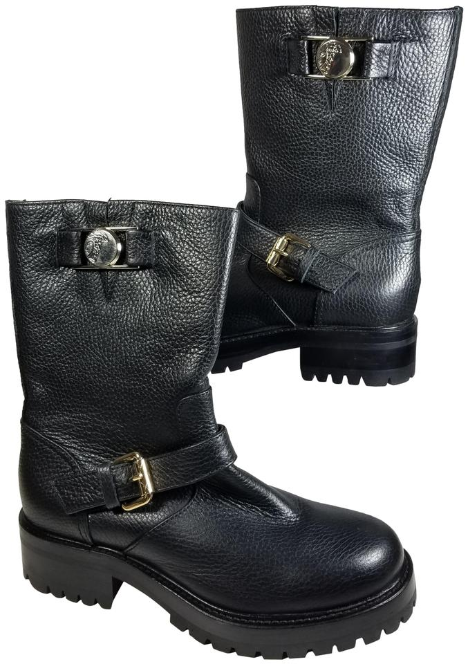 ebba50a0bdf Versace Collection Black Women s Pebbled Leather Boots Booties. Size  EU 36  ...