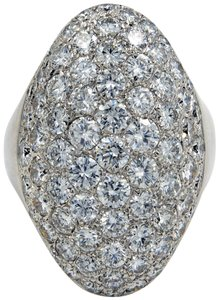 Gavriel's Jewelry Large Pave Diamond Ring 3.25 cttw Round Cuts 18KW Gold