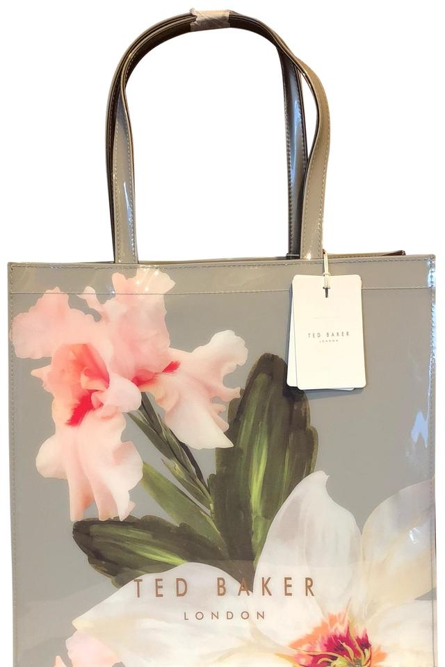 5c7101395842a3 Ted Baker Chattsworth Bloom Large Icon Mid Grey Pvc Tote - Tradesy