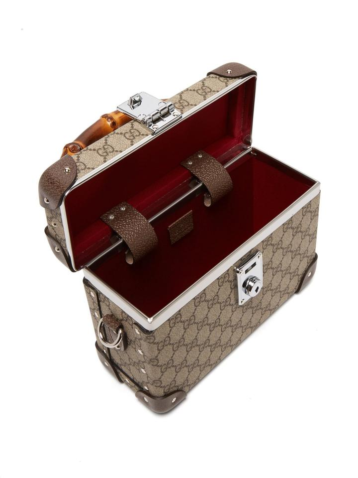 22888ba7ebd7 Gucci X Globe Trotter Gg Monogram Beauty Case Brown Canvas Cross ...