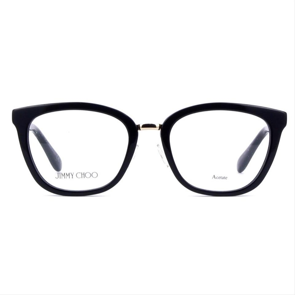 653866ef6e Jimmy Choo Black Square Cat Eye Jc165 with Glitter Temples Optical ...