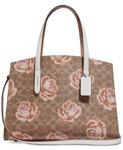 Coach Tote in Tan/Chalk