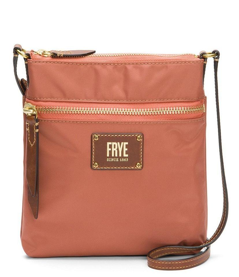 a26443e216 Frye Ivy Zip Db677 Dusty Rose Nylon Cross Body Bag - Tradesy
