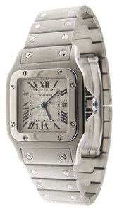Cartier Men Cartier Santos 2319 Galbee Automatic SS 29mm Date Watch B/P