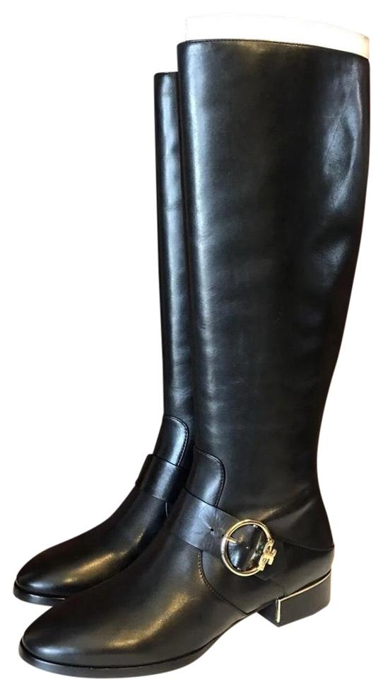 53b003d51 Tory Burch Black Sofia Riding Boots Booties Size US 9.5 Regular (M ...