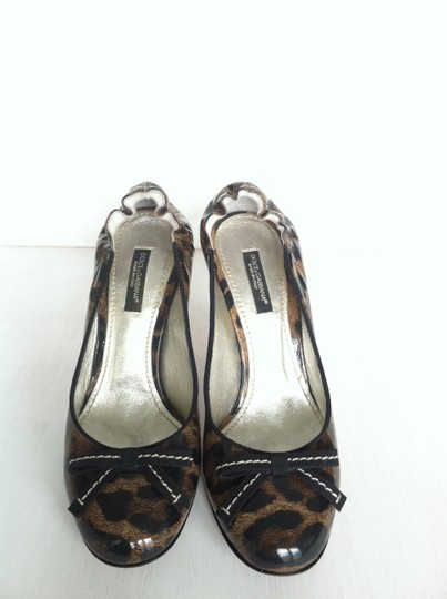 Dolce&Gabbana Dolce & Gabbana Patent Leather Stiletto Leopard (Brown and Black) Pumps Image 1