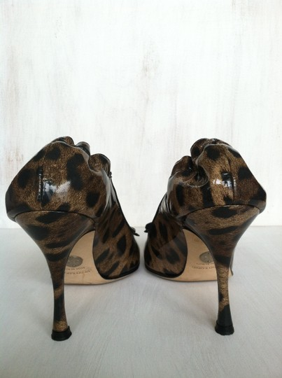 Dolce&Gabbana Dolce & Gabbana Patent Leather Stiletto Leopard (Brown and Black) Pumps Image 3