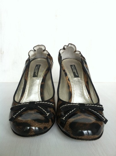 Dolce&Gabbana Dolce & Gabbana Patent Leather Stiletto Leopard (Brown and Black) Pumps Image 5
