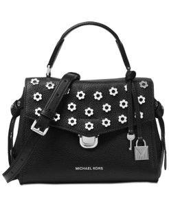 Michael Kors Brahmin Elisa Hobo I54151 Croc-embossed Satchel in Black/Silver