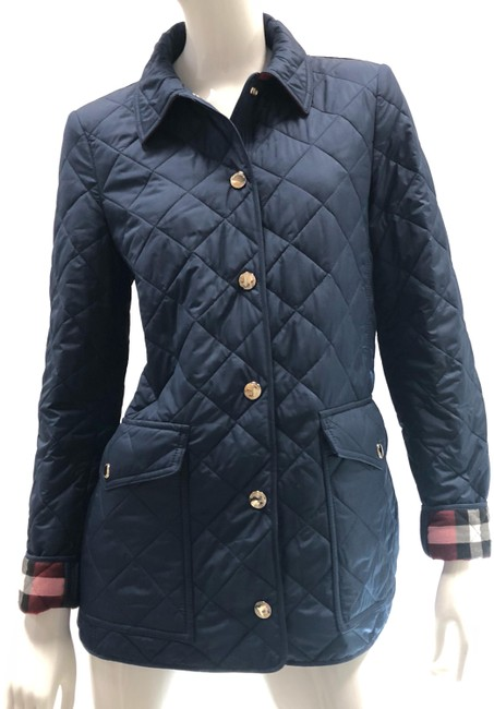 Item - Navy Blue Westbridge Quilted Small Jacket Size 4 (S)