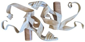 RAYE Suede Tie Tan Sandals
