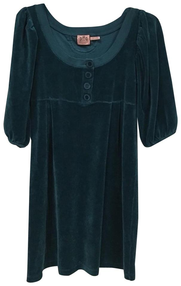 04fb212f Juicy Couture Blue Velour Short Casual Dress Size 6 (S) - Tradesy