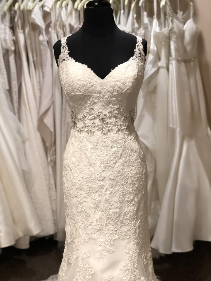 2f2e842fb72b Stella York Antique Ivory Lace with Diamante 6238 Traditional Wedding Dress  Size 12 (L) ...