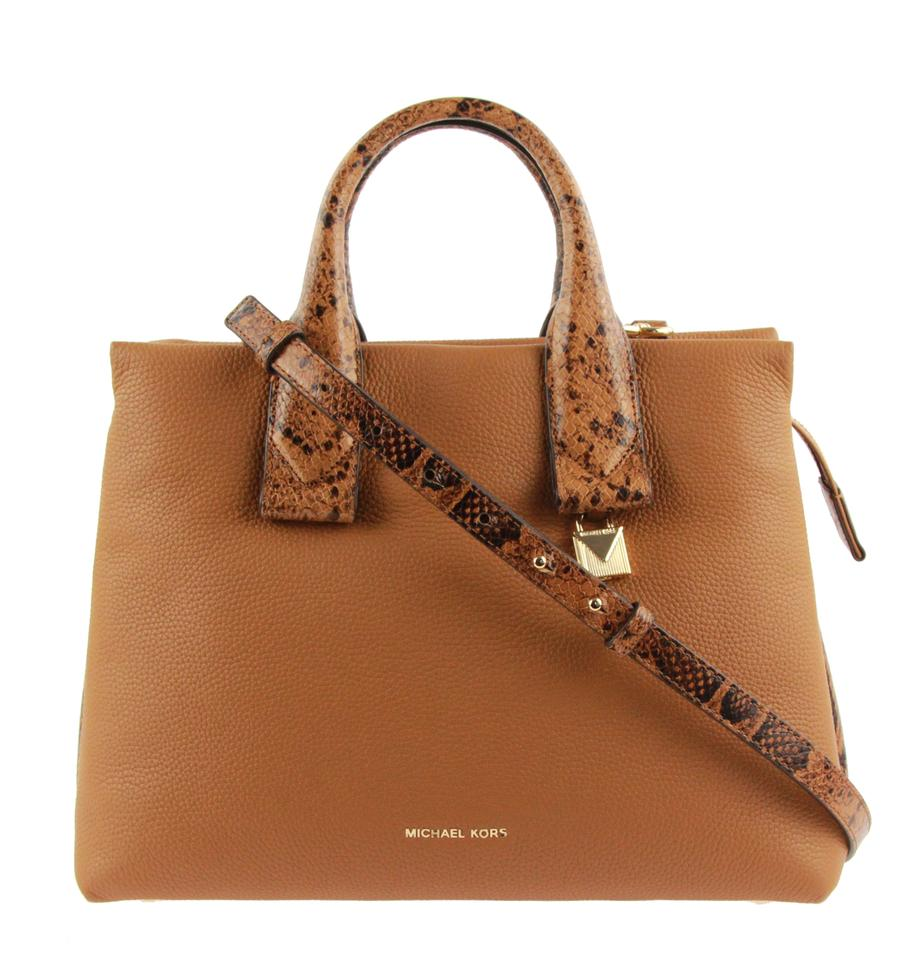 5d70529f143b Michael Kors Rollins Large Acorn Brown Leather Satchel - Tradesy