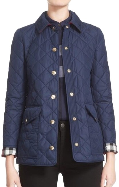 Item - Navy Blue Westbridge Quilted Small S Jacket Size 4 (S)