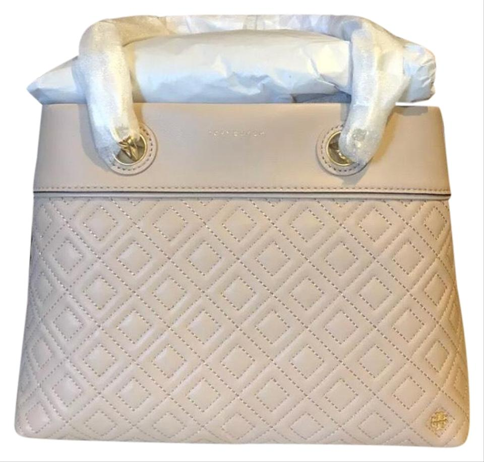 8e2ee958f78 Tory Burch Fleming Small Tote New Mink Lambskin Leather Shoulder Bag ...