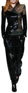 DIOR BELLA Donnica Black Sequins And Tulle Pant Suit