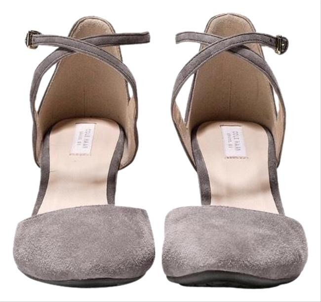 Cole Haan Gray Stormcloud Suede Ankle Strap Wedges Size US 8 Regular (M, B) Cole Haan Gray Stormcloud Suede Ankle Strap Wedges Size US 8 Regular (M, B) Image 1