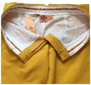 Tory Burch Trouser Pants Yellow