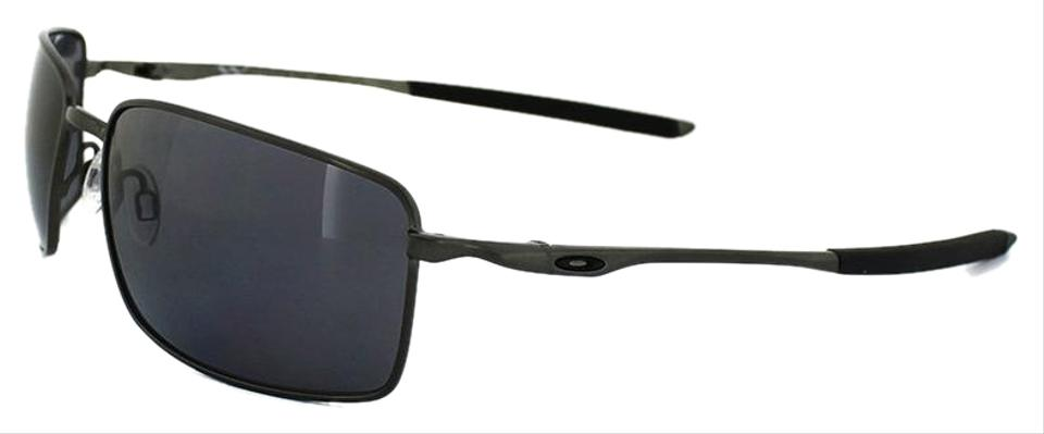 564261c5d9885 Oakley Square Wire Carbon Frame   Grey Polarized Lens Oo4075-04 Style  Unisex Sunglasses