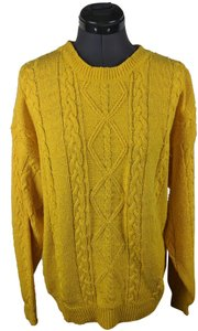Perry Ellis Cable Knit Knit Silk Cotton Sweater