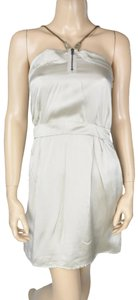 Society for Rational Dress Silk Chain Metallic Slip Dress