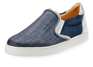 Christian Louboutin Sneaker Masteralta Denim Red Sole Blue Athletic