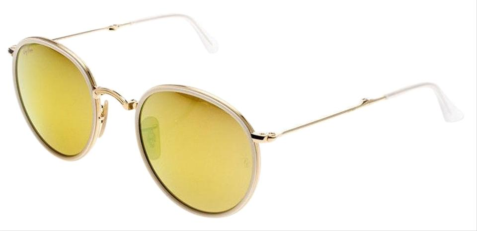3b9f2895fe7 Ray-Ban Gold White Frame   Yellow Flash Mirrored Lens Rb3517 001 93 ...