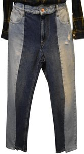 3X1 Cropped Ankle Flare Straight Leg Jeans-Medium Wash