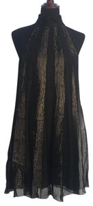 black and gold Maxi Dress by A.B.S. by Allen Schwartz