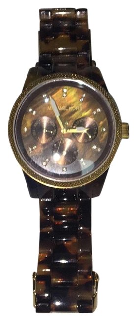 Item - Tortoise. Brown and Black Jet Set Shell Watch