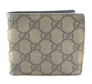 Gucci Classic canvas and leather bifold Wallet card bill holder
