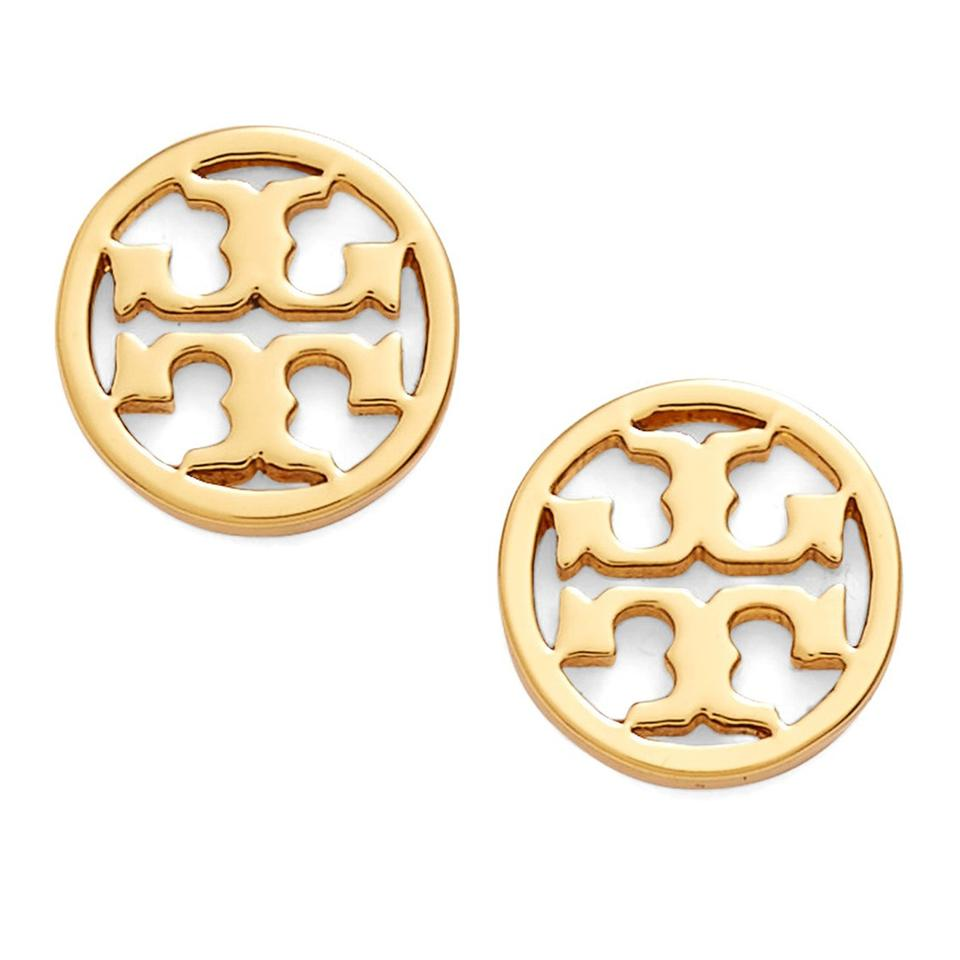 Tory Burch New Small Gold Circle Logo Studs