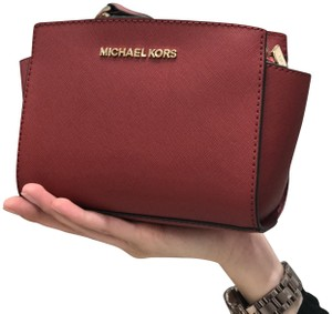 Michael Kors Leather Mini Cross Body Bag