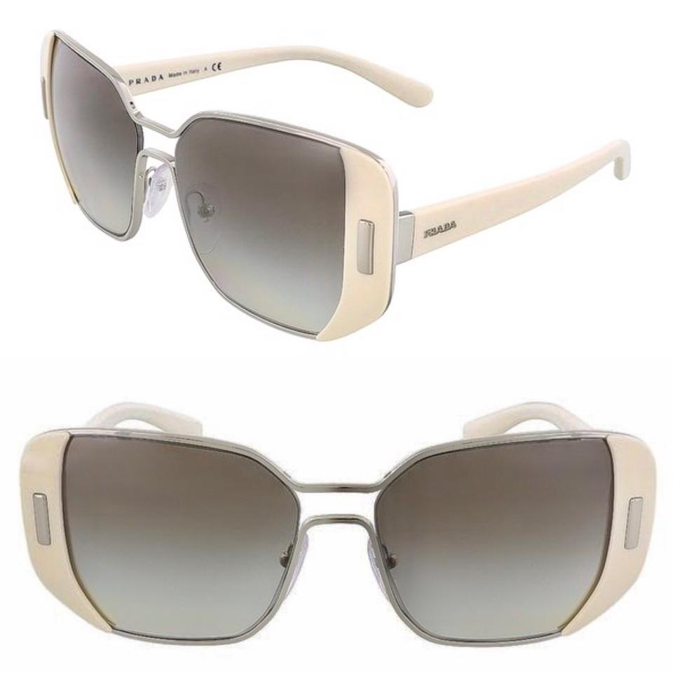 6389f3dfb06c7 Prada Ivory 54mm Rectangle Pr59ss Usb0a7 Sunglasses - Tradesy