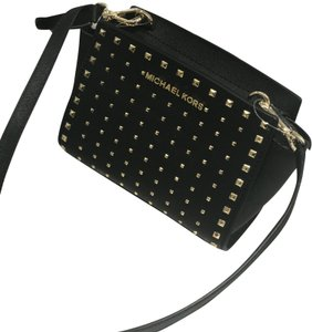Michael Kors Leather Mini Selma Stud Cross Body Bag