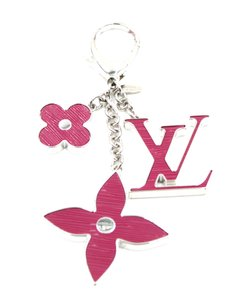 Louis Vuitton Signature Monogram Epi Resin Key Key Ring Chain Holder Charm