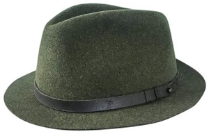 Rag & Bone Rag & Bone Green 100% Wool Floppy Brim Belted Fedora Women's Hat SALE!