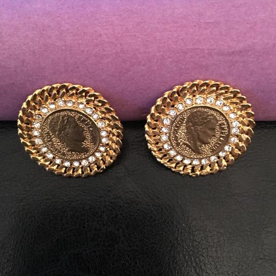 Other 14k gold Coin clip on Earrings Image 1